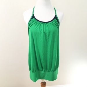 Lululemon NO LIMITS Tank Top Green Blue Striped